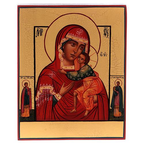 Icone Mère de Dieu de Tolga manteau vert 1