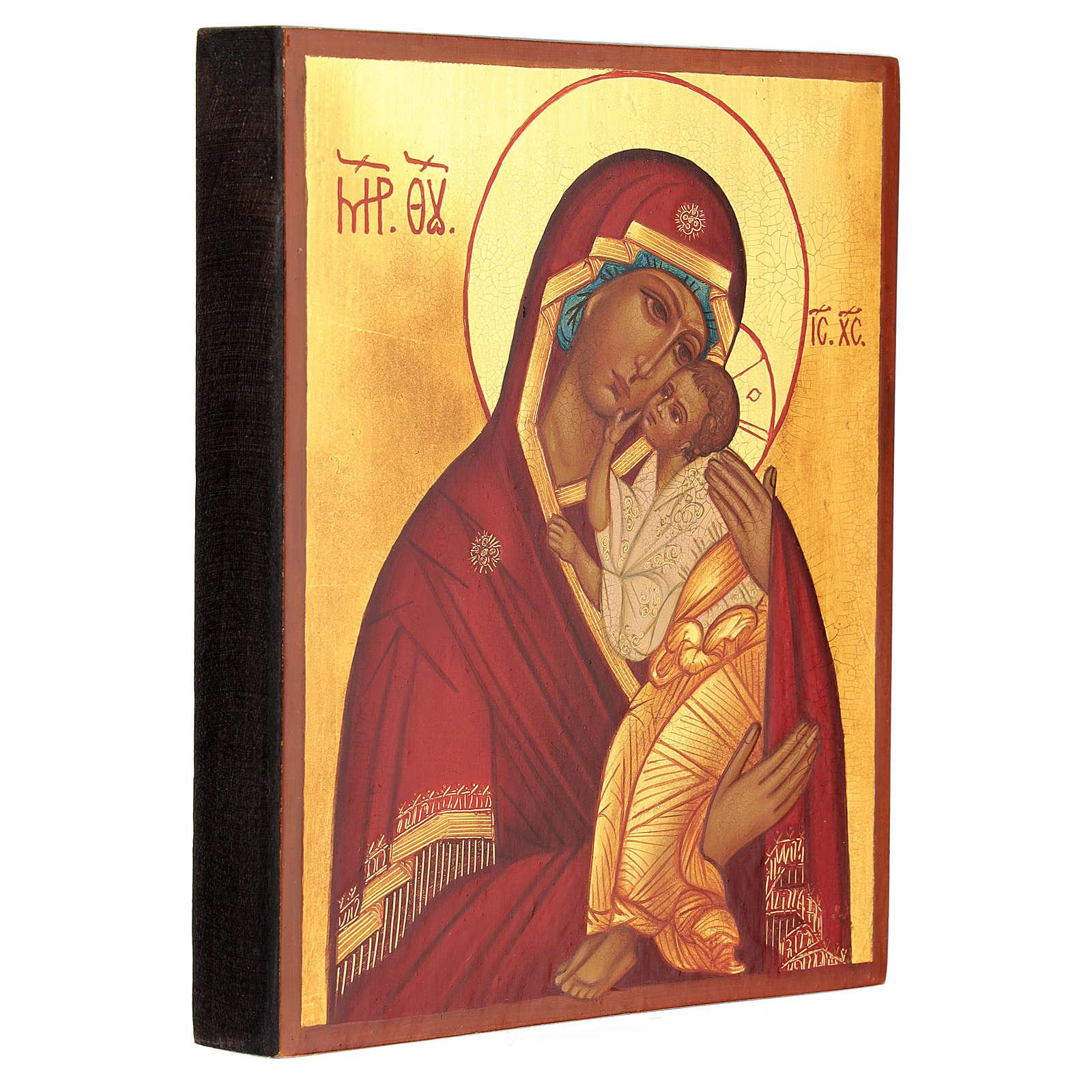 Ícono Madre de Dios Jaroslav 14x10 cm 4