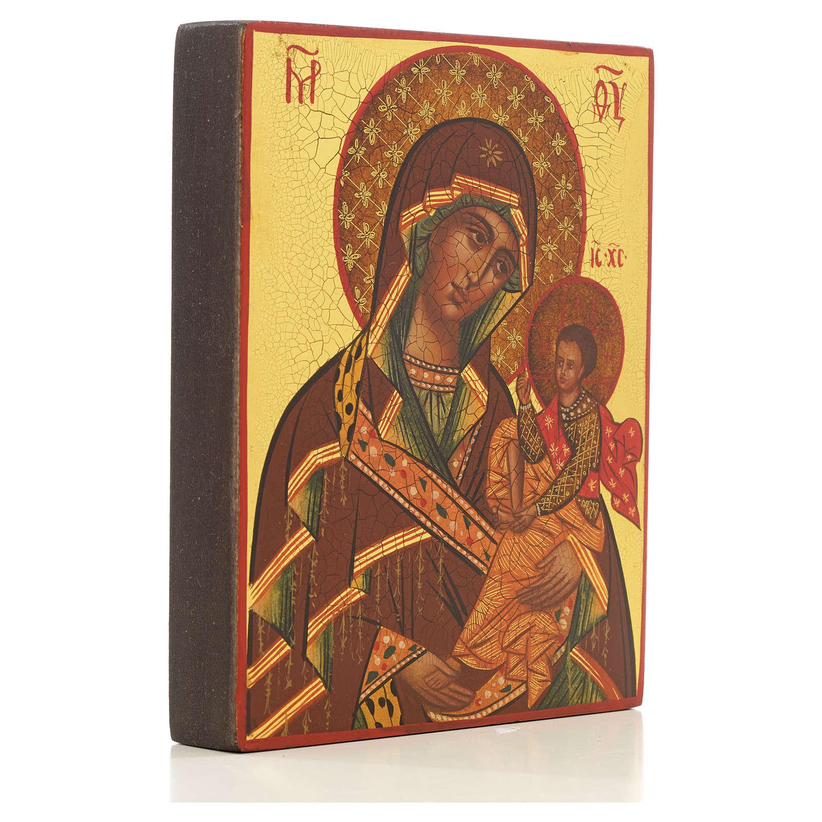 Icona Madre di Dio di Suaja manto rosso 4