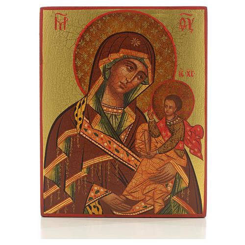 Icona Madre di Dio di Suaja manto rosso 1