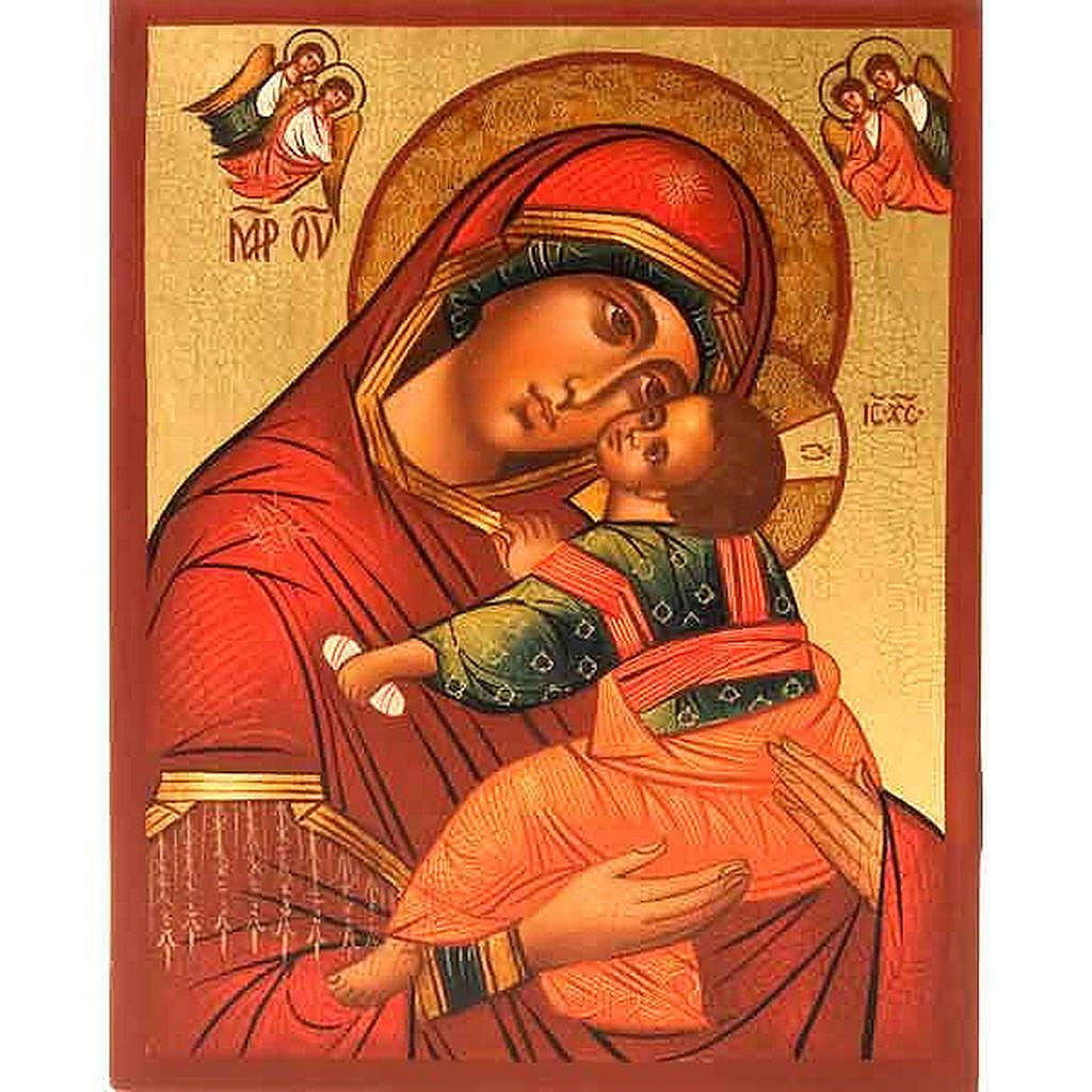 Icona Madre di Dio Clemente con angeli 4