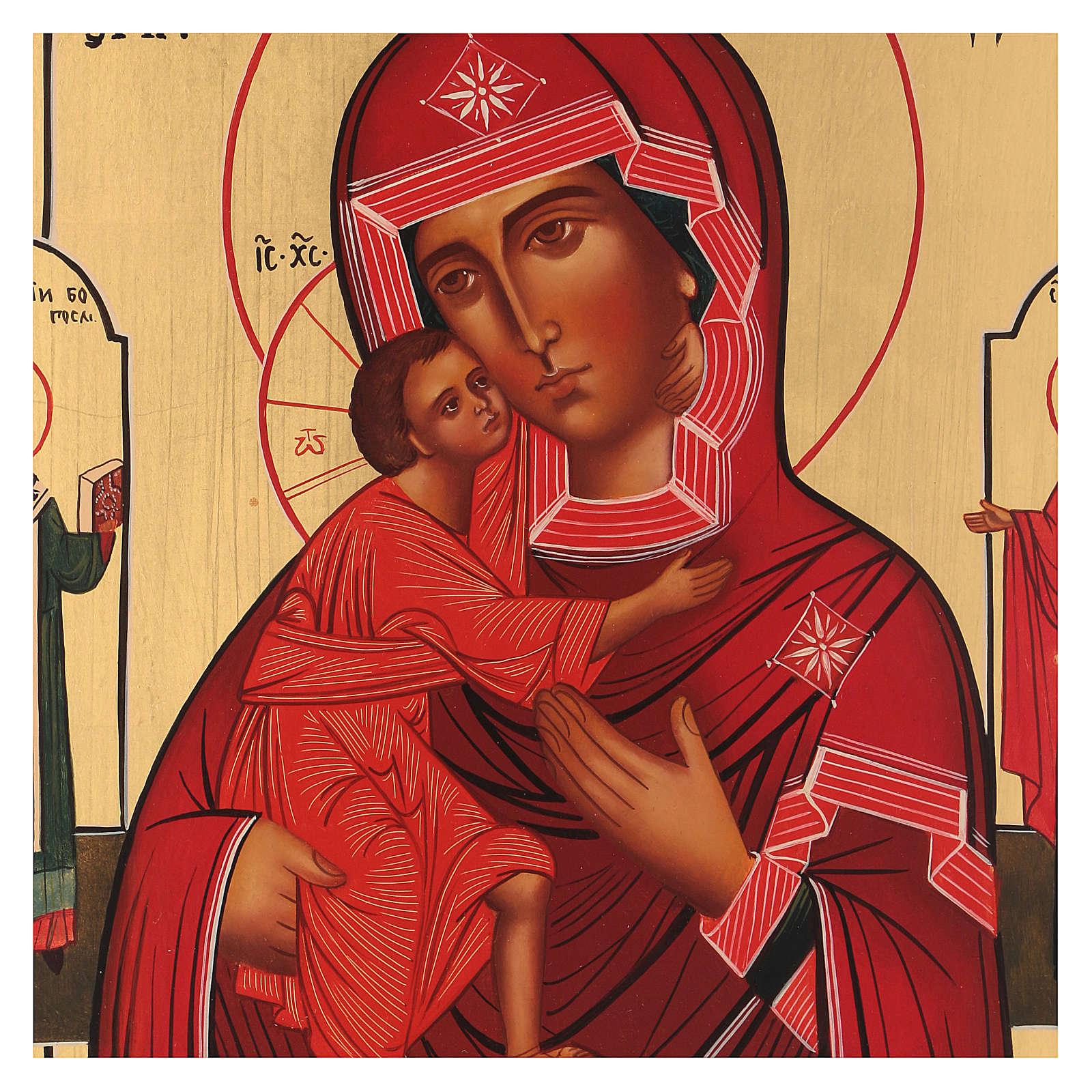 Icona Madonna di Tolga con due santi 4