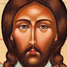 Icona Cristo Mandylion con decoro s3