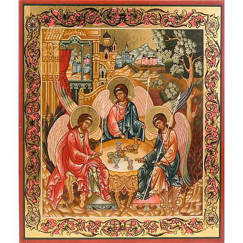 Icon of the Holy Trinity with decor 1