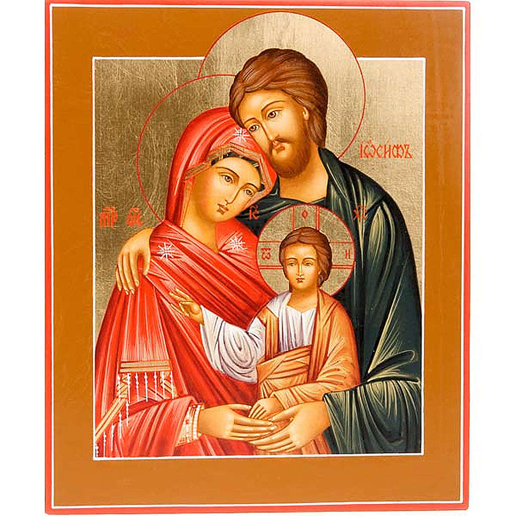 Icona Sacra Famiglia ortodossa Russa 4