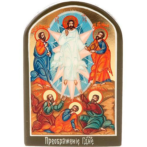 Icona russa Trasfigurazione 6x9 cm 1