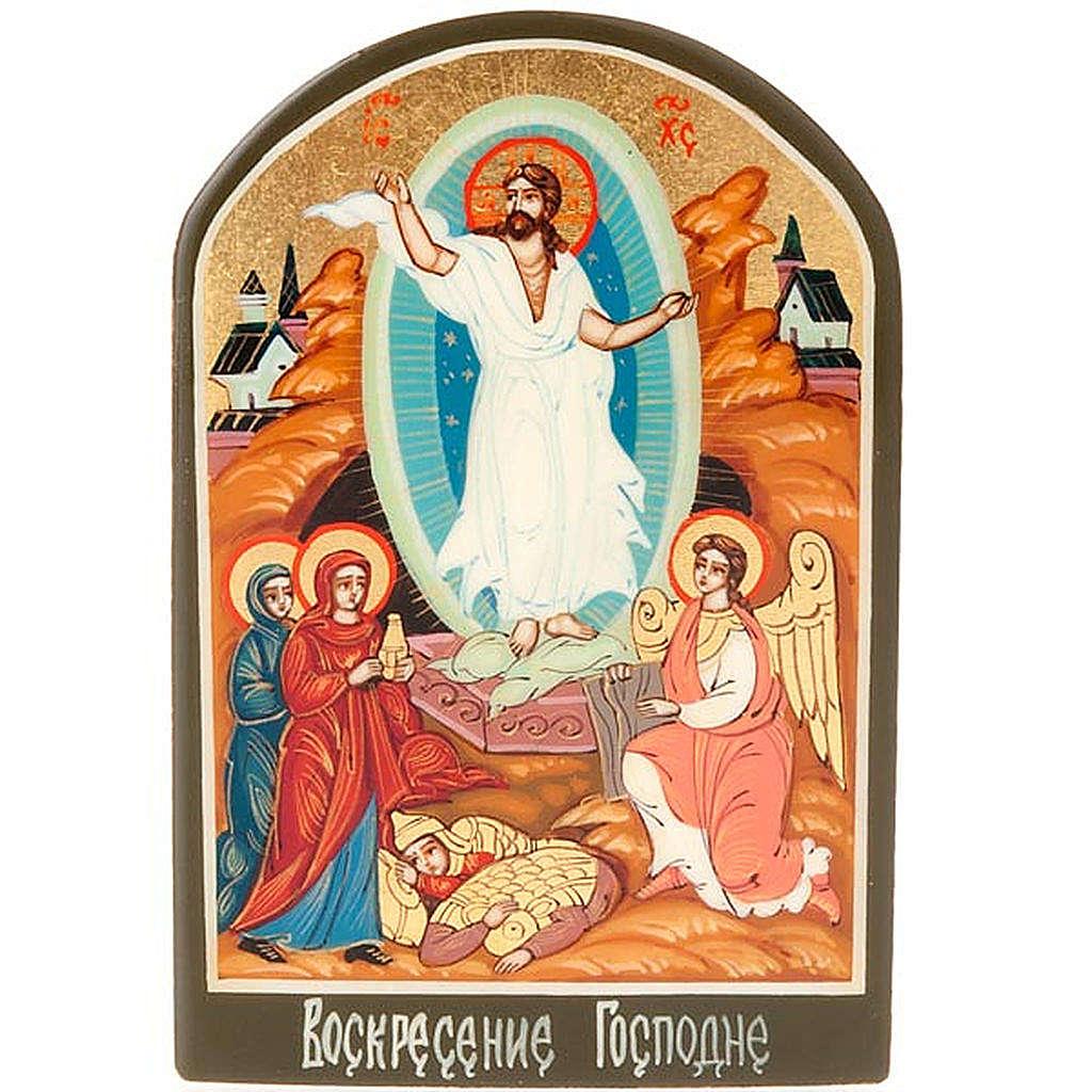 Icona russa Resurrezione 6x9 cm 4