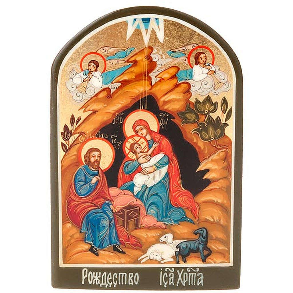 Icona russa Natività 6x9 cm 4