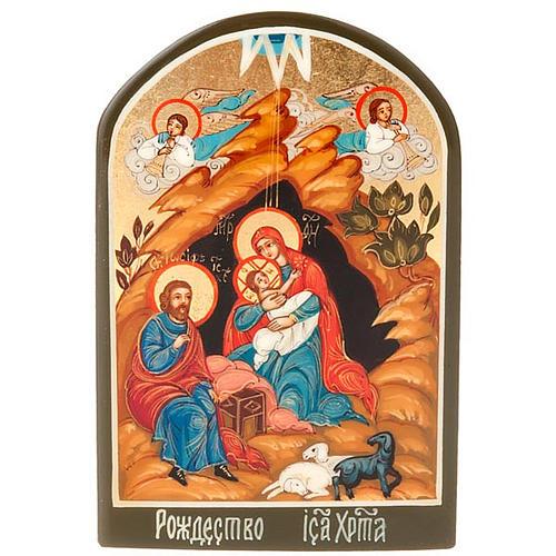 Icona russa Natività 6x9 cm 1