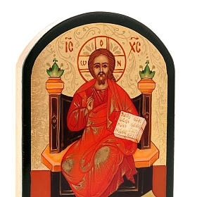 Icona russa Gesù su trono 6x9 cm s4