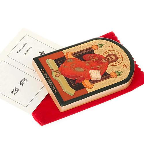 Icona russa Gesù su trono 6x9 cm 2