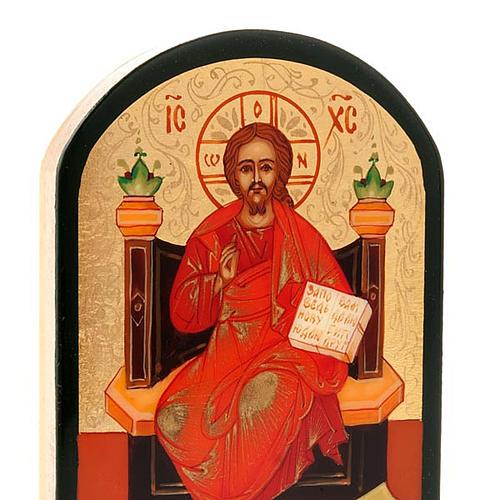Icona russa Gesù su trono 6x9 cm 4