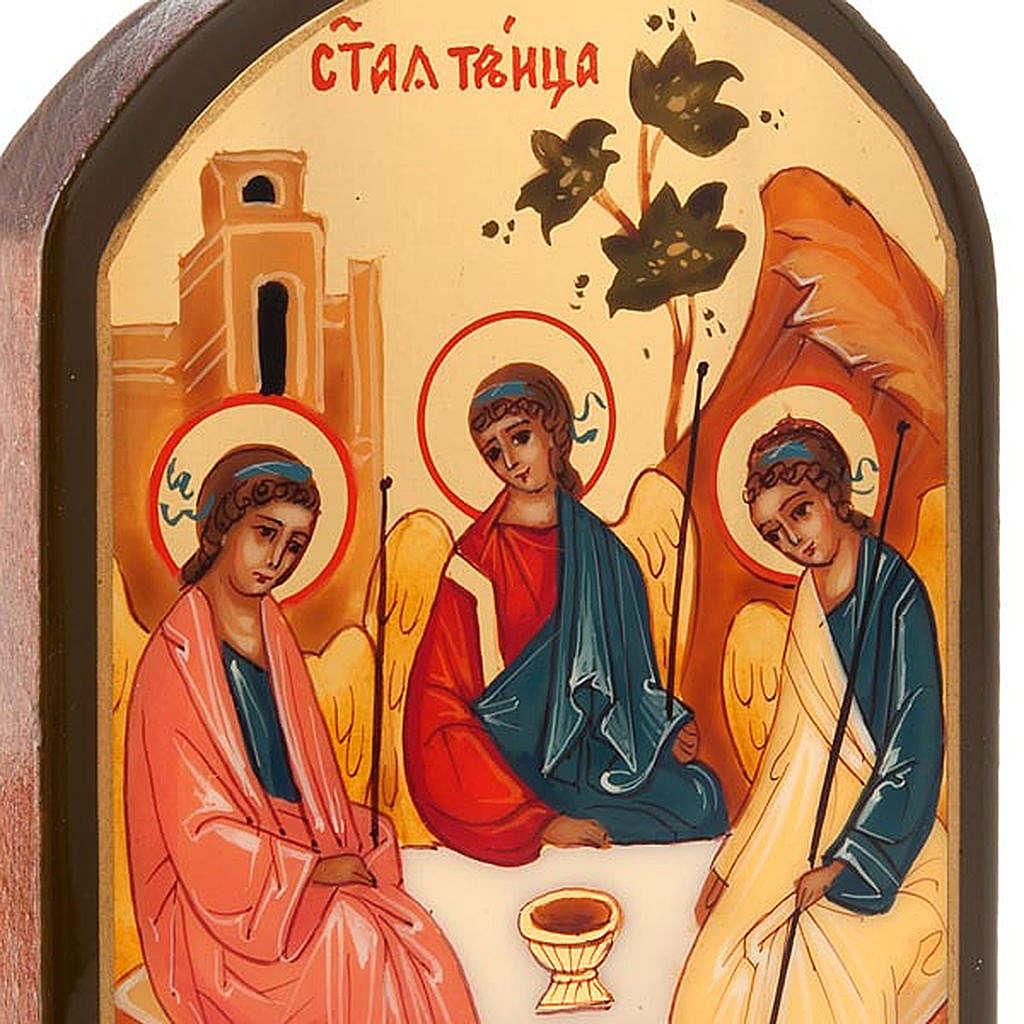 Icona russa SS Trinità 6x9 cm 4