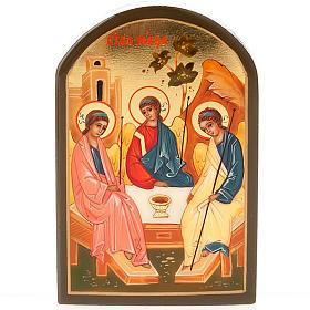 Icona russa SS Trinità 6x9 cm s1