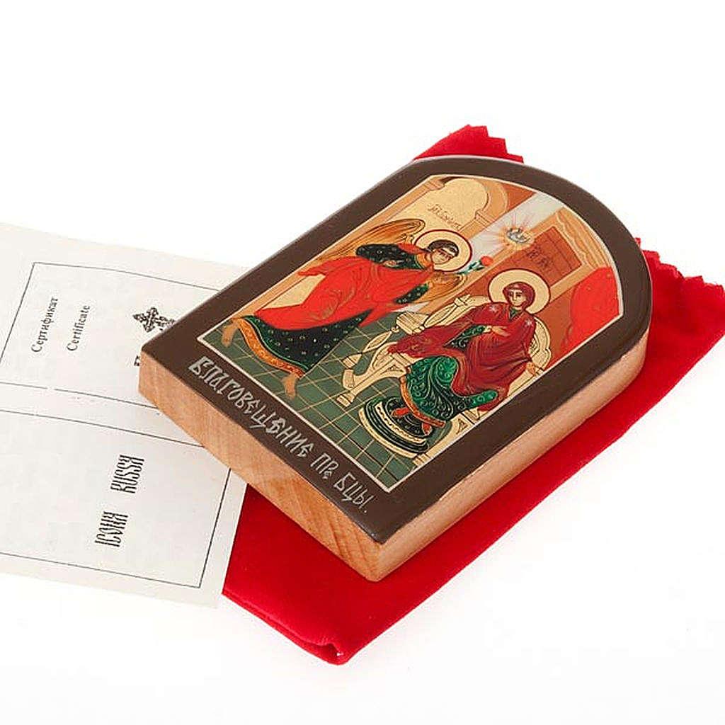 Icona russa Annunciazione 6x9 cm 4