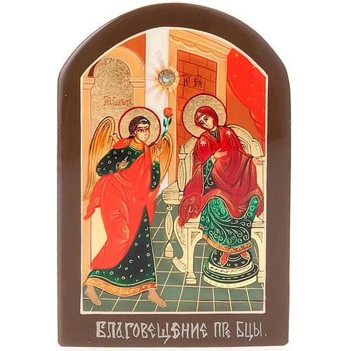 Icona russa Annunciazione 6x9 cm 1