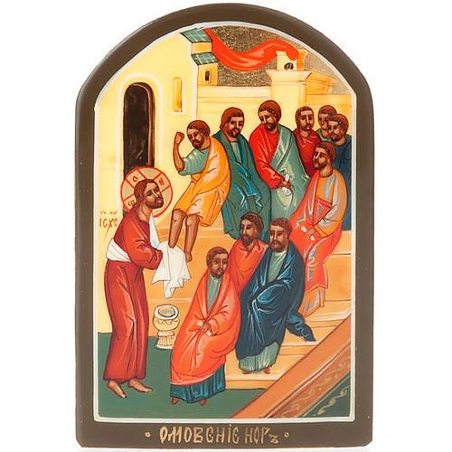Icona russa Lavanda dei Piedi 6x9 cm 1