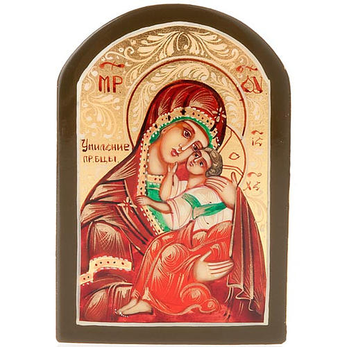 Icona russa Vergine di Yaroslavl 6x9 cm 1