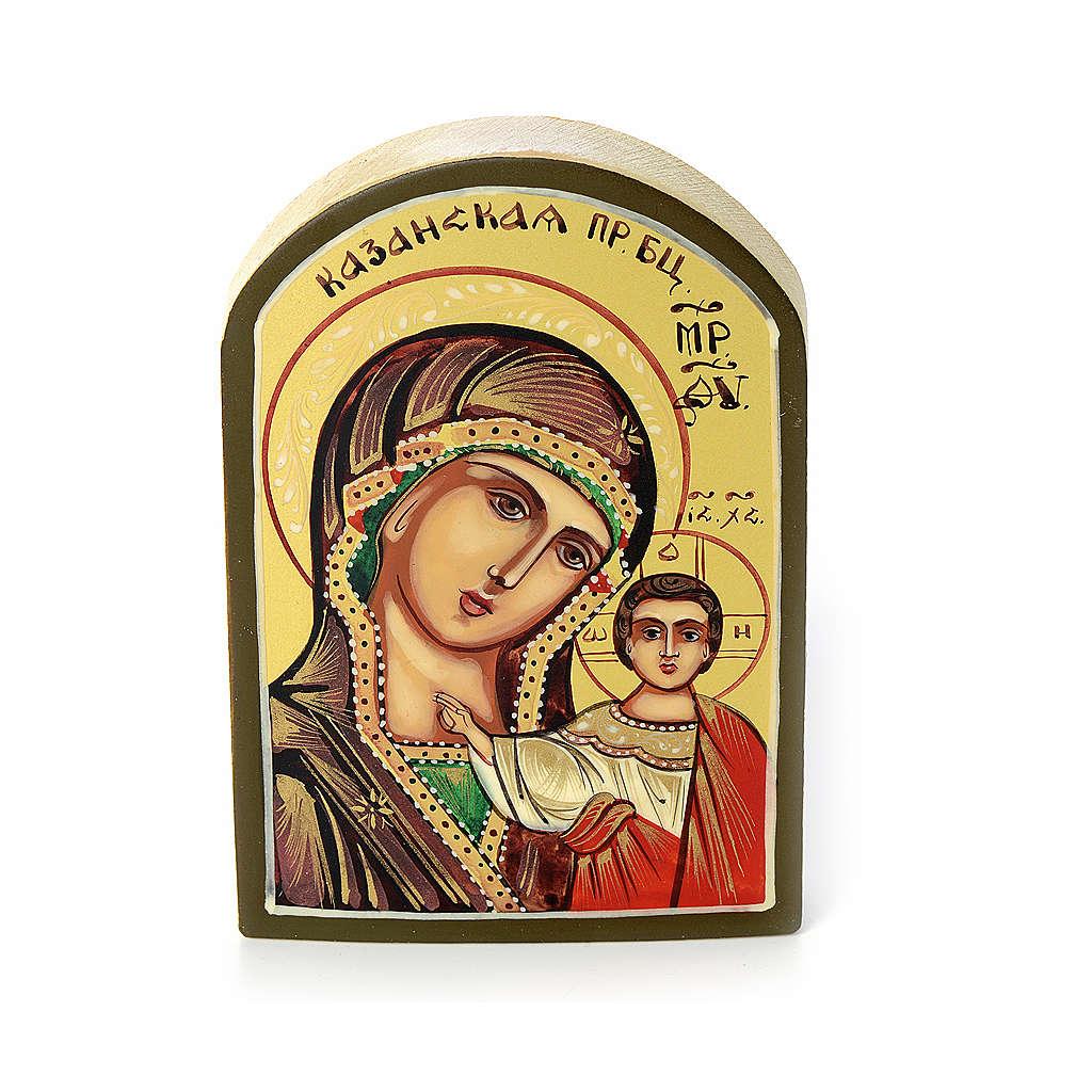Icona russa Vergine di Kazan 6x9 cm 4