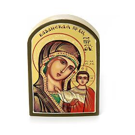 Icona russa Vergine di Kazan 6x9 cm s1