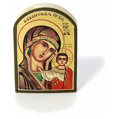 Icona russa Vergine di Kazan 6x9 cm 3