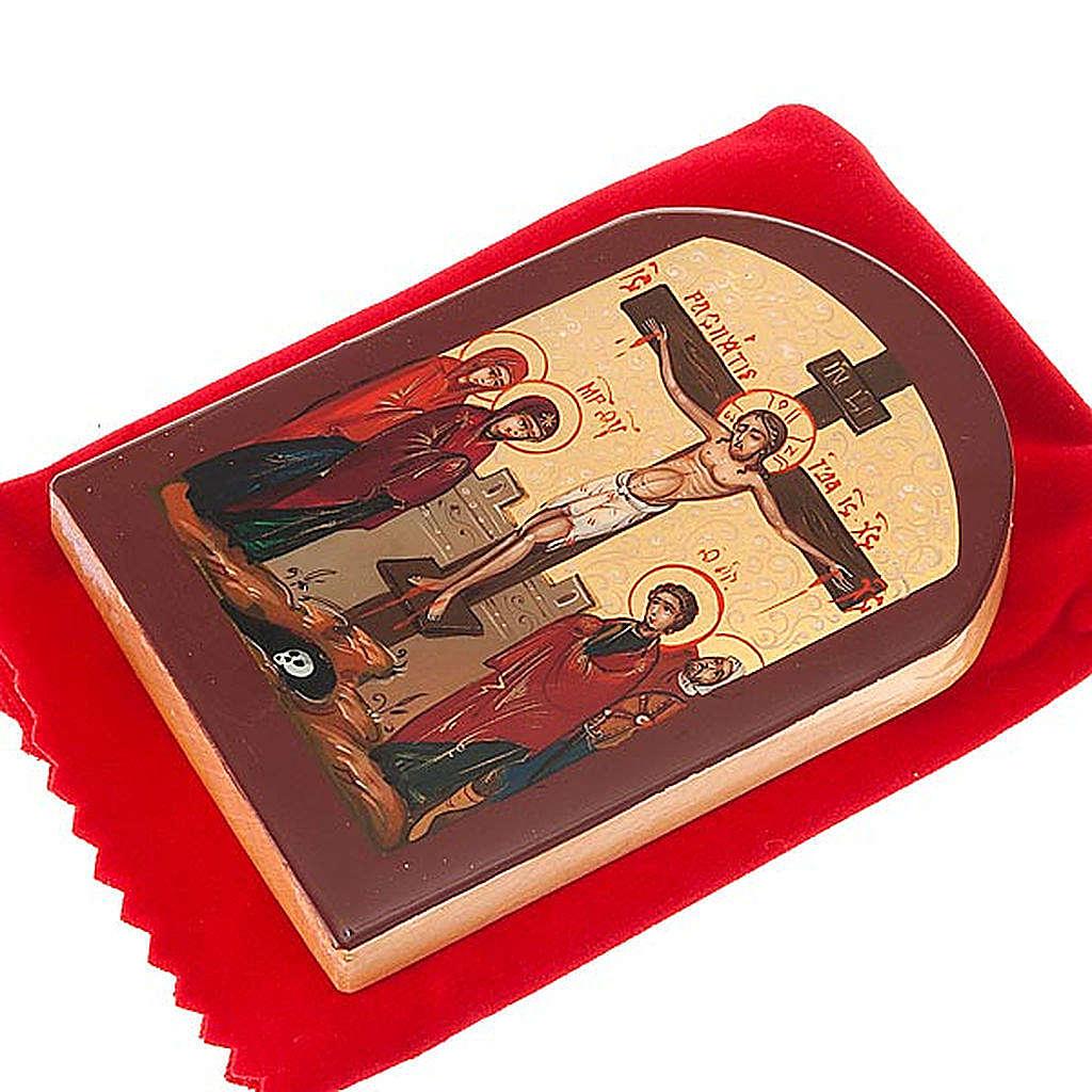 Icona russa Crocifissione 6x9 cm 4