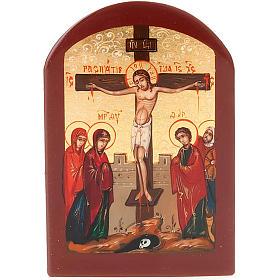 Icona russa Crocifissione 6x9 cm s1
