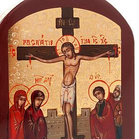 Icona russa Crocifissione 6x9 cm s4