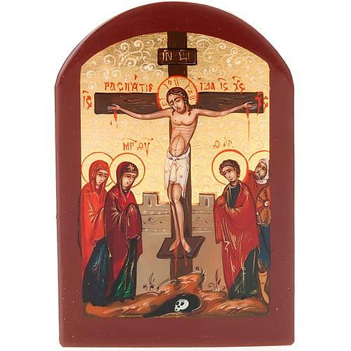 Icona russa Crocifissione 6x9 cm 1