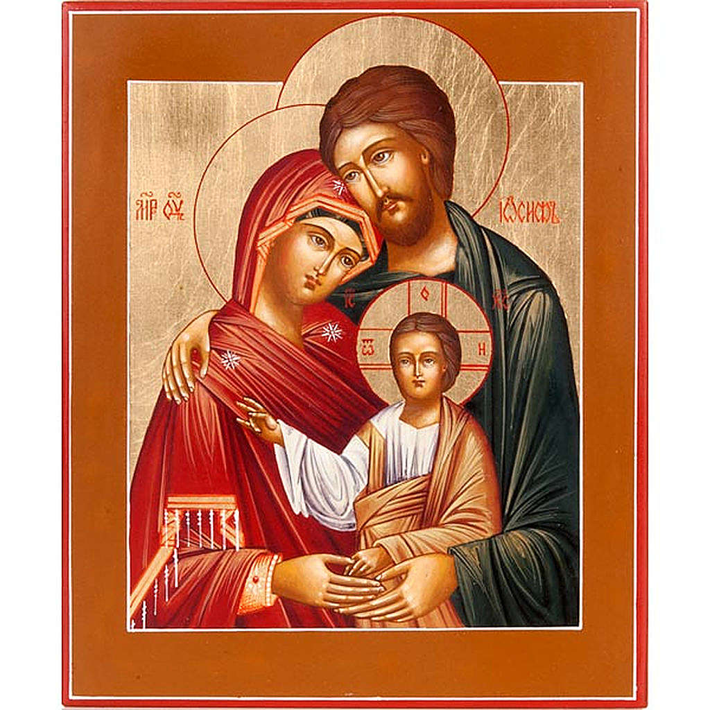 Russian icon Holy Family 4