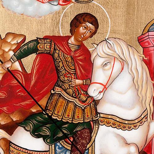 Icona San Giorgio e drago Russia 3