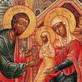 Icona russa Gioacchino e Anna concezione di Maria s3