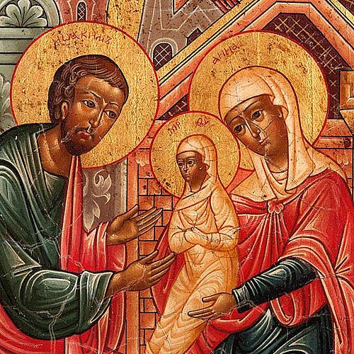 Icona russa Gioacchino e Anna concezione di Maria 3