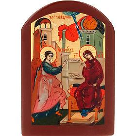 Icona russa Annunciazione 6x9 cm s1