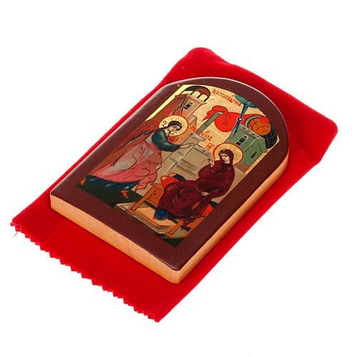 Icona russa Annunciazione 6x9 cm 3