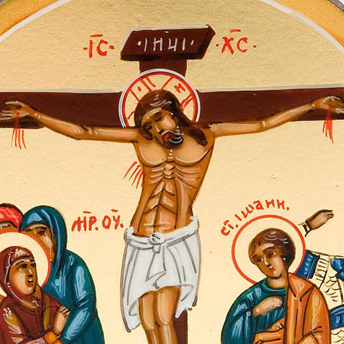 Icona sacra Crocifissione 6x9 Russia 3