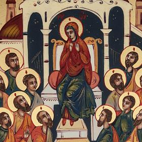 Icona sacra Pentecoste 6x9 dipinta a mano Russia s2
