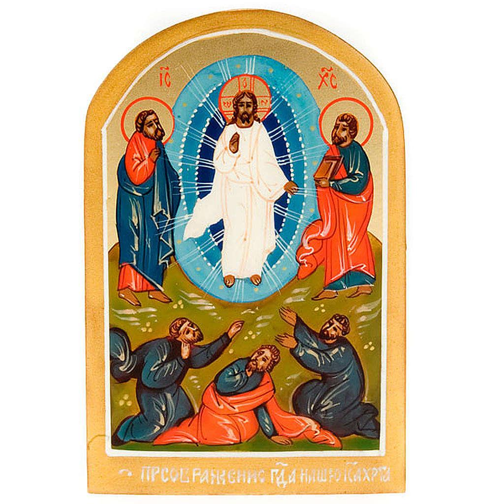 Icona sacra Trasfigurazione di Gesù 6x9 Russia 4