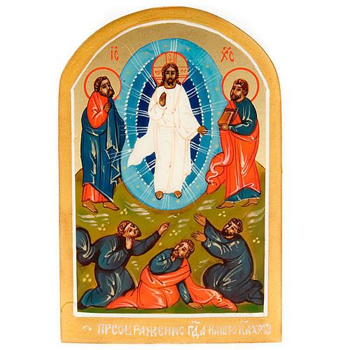 Icona sacra Trasfigurazione di Gesù 6x9 Russia 1
