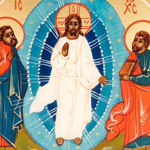 Icona sacra Trasfigurazione di Gesù 6x9 Russia 3