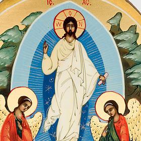 Icona russa Resurrezione di Gesù 6x9 dipinta a mano s3