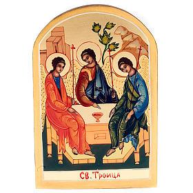 Icona SS Trinità di Rublev 6x9 Russia s1