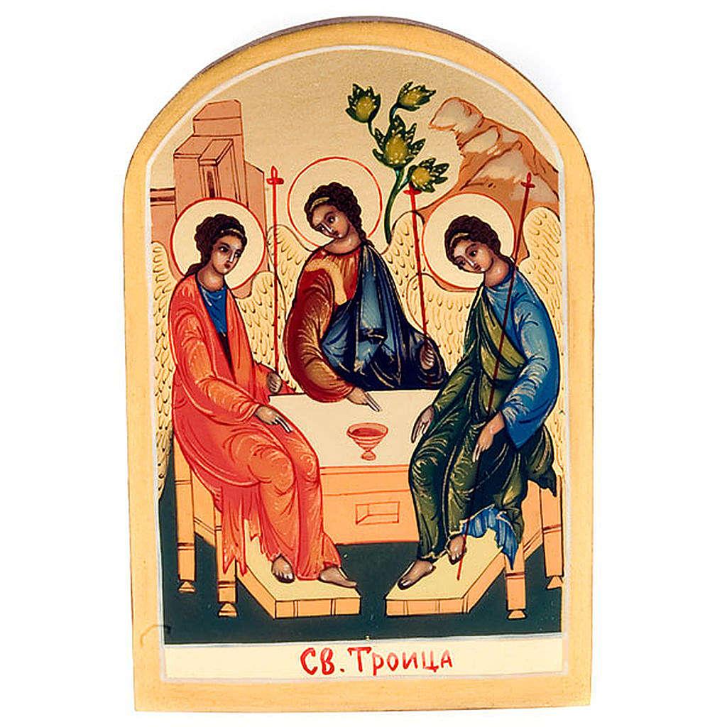 Russian icon, Holy Trinity, Rublev 6x9cm 4