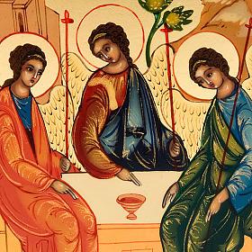 Russian icon, Holy Trinity, Rublev 6x9cm s3