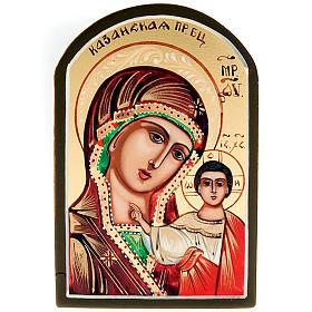 Icona sacra Vergine di Kazan 6x9 Russia s1