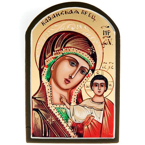 Icona sacra Vergine di Kazan 6x9 Russia 1