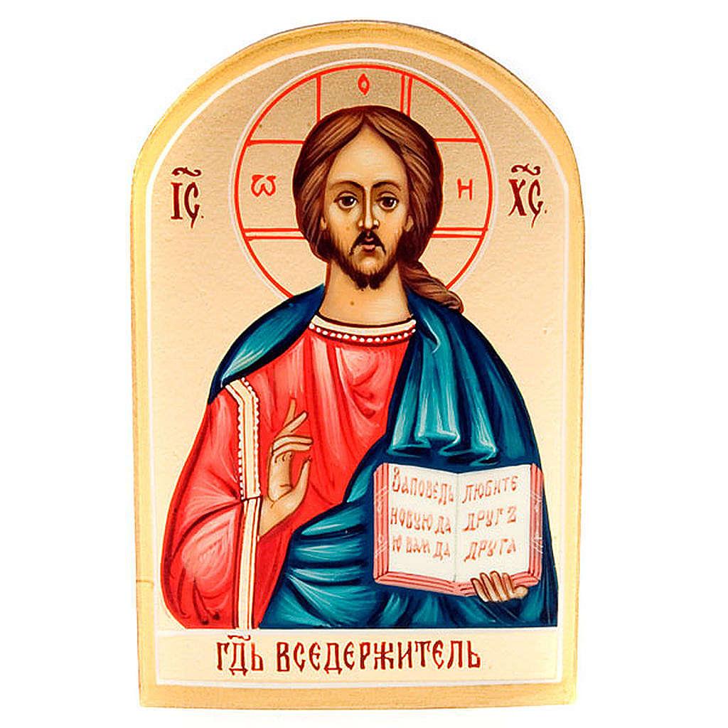 Icona Cristo Pantocratore libro aperto 6x9 Russia 4