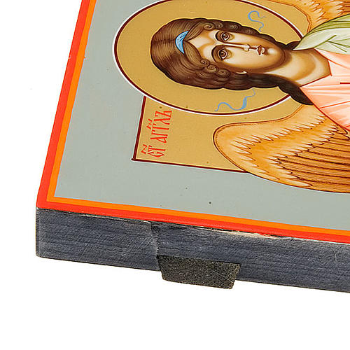 Icona Angelo Custode dipinta a mano Russia 22x27 3