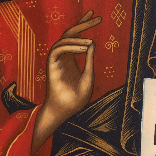 Icona russa dipinta Pantocratore libro aperto 4