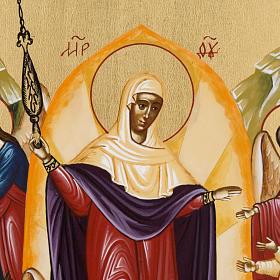 Icona russa dipinta Gioia di tutti gli afflitti s2